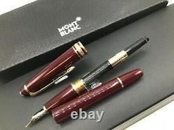 Montblanc Classique Meisterstuck Fountain Pen 14k Bordeaux Burgundy Gold 144R