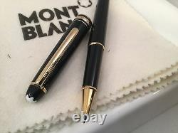 Montblanc Classique Meisterstuck Rollerball Black with Gold Trim 163 12890