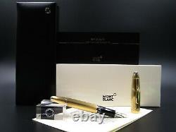 Montblanc Fountain Pen Meisterstuck 146 Solitaire Barley Vermeil Nib Gold 18Kt F