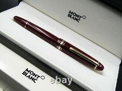 Montblanc Fountain Pen Meisterstuck 146R Burgundary With Solid Gold Nib F New
