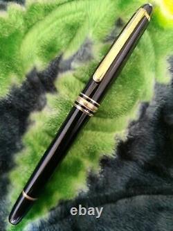 Montblanc Meisterstuck 144 Gold 14K Nib M Fountain Pen Nice Condition