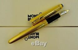 Montblanc Meisterstuck 144V Solitaire Gold Vermeil Barley Classique Fountain Pen