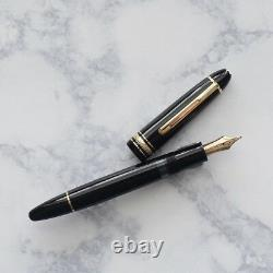 Montblanc Meisterstuck 146 Black & Gold LeGrand Fountain Pen 14k M West Germany