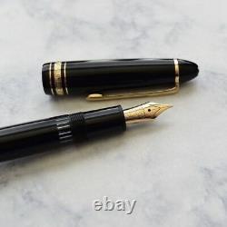 Montblanc Meisterstuck 146 Black & Gold LeGrand Fountain Pen 14k Monotone M Nib