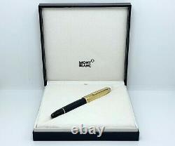 Montblanc Meisterstuck 146 LeGrand Solitaire Doue Black Gold Cap Fountain Pen