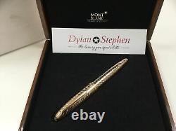 Montblanc Meisterstuck 146 legrand solitaire 18K solid gold chevron fountain pen