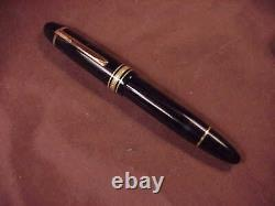 Montblanc Meisterstuck #149 Black, 2 Toned 18c Medium Nib, Gft Mint Condition