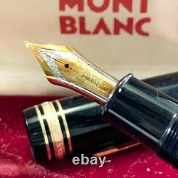 Montblanc Meisterstuck 149 Gold 18K Nib M Fountain Pen From Japan