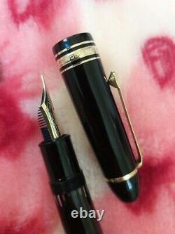Montblanc Meisterstuck 149 Gold Two tone 14C Nib F Fountain Pen