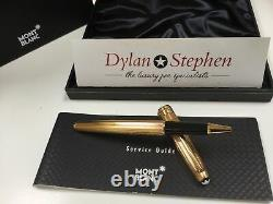 Montblanc Meisterstuck 163 Solitaire gold barley vermeil rollerball pen