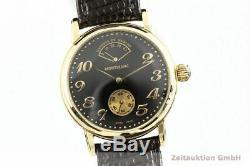 Montblanc Meisterstück 18K Gold Handaufzug Gangreserve Herrenuhr Ref. 7007