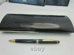 Montblanc Meisterstuck Ballpoint Pen Gold Trim Classique 164 box papers