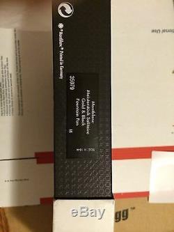 Montblanc Meisterstuck Black And 18K Gold Stripes Fountain Pen NIB 35979