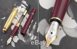 Montblanc Meisterstuck Bordeaux & Gold Doue Classique Fountain Pen NEW + BOX