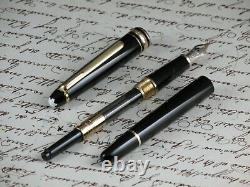 Montblanc Meisterstuck Classique 144 Fountain Pen Nib Gold 14kt Two Tone + Box