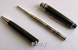 Montblanc Meisterstuck Classique 164 Platinum Plated Ballpoint Pen 333 Gold Clip