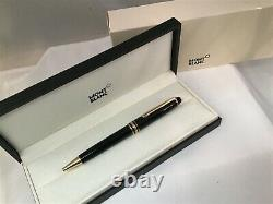 Montblanc Meisterstuck Classique Ballpoint Pen Black with Gold Trim 164 10883 New