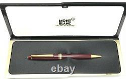 Montblanc Meisterstuck Classique Ballpoint Pen Bordeaux Burgundy Gold 164R