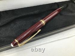 Montblanc Meisterstuck Classique Ballpoint Pen Bordeaux Burgundy Gold 164R NOS
