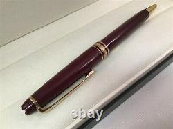 Montblanc Meisterstuck Classique Ballpoint Pen Bordeaux Burgundy Gold 164R New