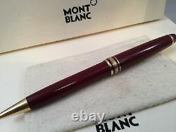 Montblanc Meisterstuck Classique Ballpoint Pen Bordeaux Burgundy with Gold 164R