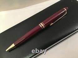 Montblanc Meisterstuck Classique Bordeaux Burgundy Gold Ballpoint Pen 164R Box