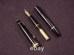 Montblanc Meisterstuck Classique Size Fountain Pen, Black, Gpt, Cf, Excellent