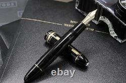 Montblanc Meisterstuck Gold-Coated 149 Fountain Pen Serviced by MB June 2021