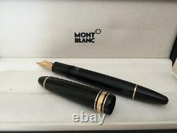 Montblanc Meisterstuck, Le Grand 146, Fountain pen, black-gold Nib 4810 14Kt