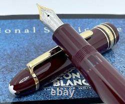 Montblanc Meisterstuck LeGrand 146R Burgundy Fountain Pen 14K Gold Nib