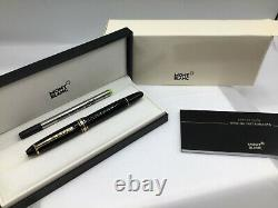 Montblanc Meisterstuck LeGrand Document Marker Highlighter Black with Gold 166 New
