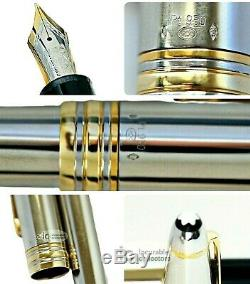 Montblanc Meisterstuck N. 146 Solid 950 Platinum/ 18k Gold Rings Fountain Pen