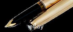 Montblanc Meisterstuck N 92 piston filler 585 Solid Gold pinstriped fountan pen