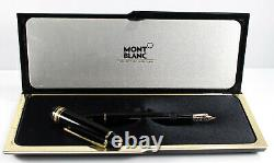 Montblanc Meisterstuck No 146 14k Fountain Pen Black Gold Trim M 4810 With Case