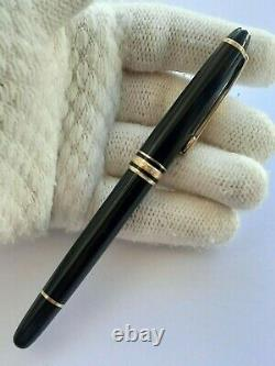 Montblanc Meisterstuck Rollerball Pen 164 Black Resin&gold Plated Made Germany