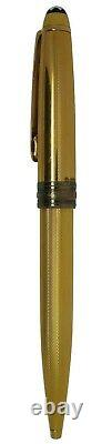 Montblanc Meisterstuck Solitaire Gold Plated Barley Ballpoint Pen Germany 1644