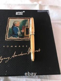 Montblanc Meisterstuck Solitaire Mozart 114 Vemeil, (gold over silver)