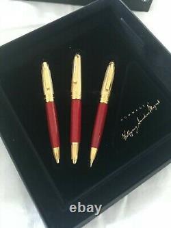 Montblanc Meisterstuck Solitaire Mozart Coral Set of 3 Pens-Mint