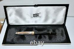 Montblanc Meisterstuck Sterling Silver & Gold Fountain Pen M Nib Mint Boxed