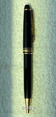 Montblanc Meisterstuck West Germany ballpoint pen black gold trim