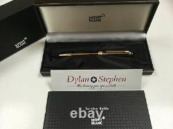 Montblanc Meisterstuck solitaire gold and black ballpoint pen NEW