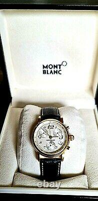 Montblanc Meistestuck Cronometer 36mm 7038 Men / Gold & Leather Mint 100%