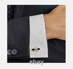 Montblanc Mont Blanc Meisterstuck Star Bar Gold Onyx Shirt Cufflinks 113395 £295