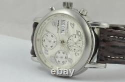 Montblanc Sport Chrono Automatik Herren Uhr 7016 38mm Stahl Vintage