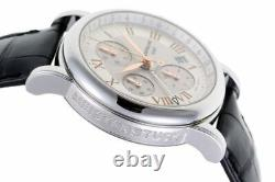 Montblanc Star Chronograph GMT Automatic 7067 Silver Dial SS Men's Watch b0203