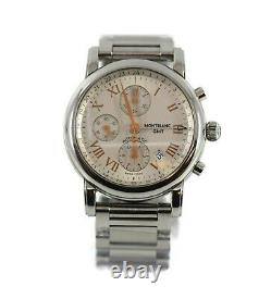 Montblanc Star GMT Chronograph Stainless Steel Watch 7067