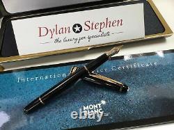 Montblanc meisterstuck 144 gold line fountain pen 14K OM gold nib + box