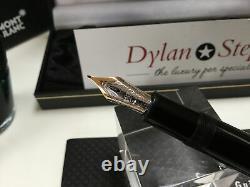 Montblanc meisterstuck 146 legrand gold line fountain pen 14K M= medium gold nib