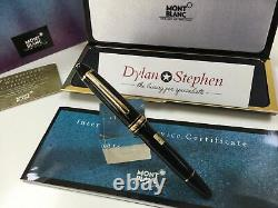 Montblanc meisterstuck 146 legrand gold line fountain pen 14K medium gold nib