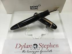 Montblanc meisterstuck 149 fountain pen 14K M= medium gold nib (never inked)